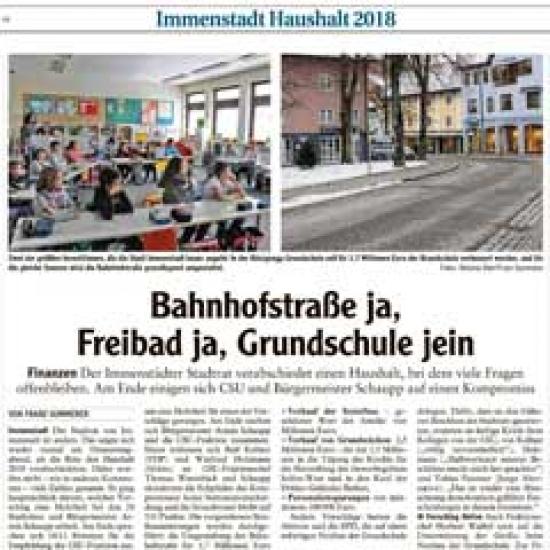 Bahnhofstraße ja, Freibad ja, Grundschule jein